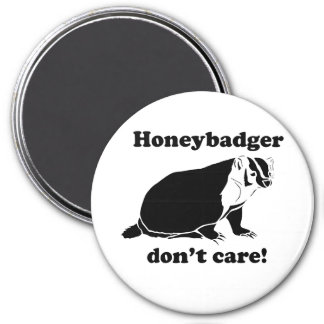 Honeybadger don't care 7.5 cm round magnet