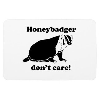Honeybadger don't care rectangular photo magnet