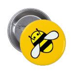 Honeybee 6 Cm Round Badge