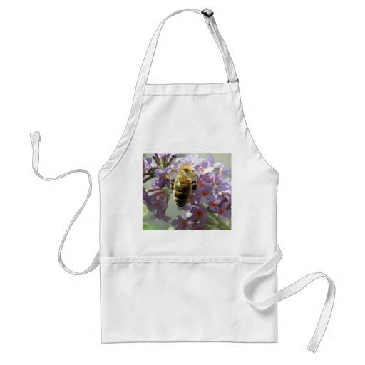 Honeybee and Buddleia Flowers Apron