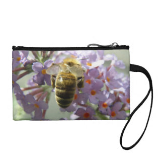 Honeybee and Buddleia Flowers Bagettes Bag