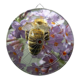 Honeybee and Buddleia Flowers Dart Board