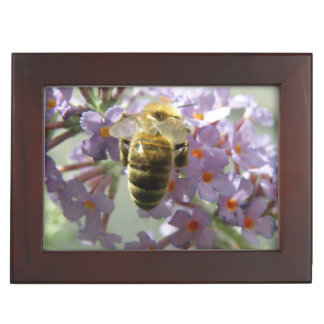 Honeybee and Buddleia Flowers Keepsake Box