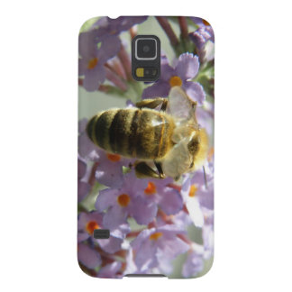 Honeybee and Buddleia Flowers Samsung Case