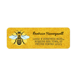 Honeybee and Honeycomb Bumblebee Honey Pretty