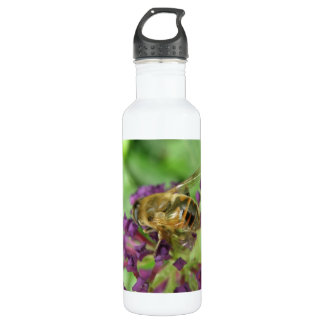 Honeybee and Purple Flowers 710 Ml Water Bottle