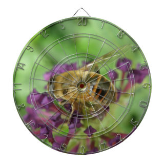 Honeybee and Purple Flowers Dart Board