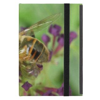 Honeybee and Purple Flowers iPad Mini Case