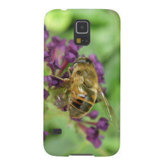 Honeybee and Purple Flowers Samsung Case
