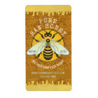 Honeybee Apiary Honey Jar Labels | Honeycomb Bee