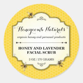 Honeybee Handmade Round Sticker