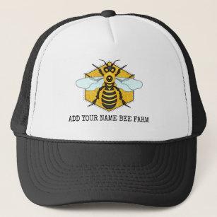 Honeybee Honeycomb Bee Farm Apiary Personalised Trucker Hat
