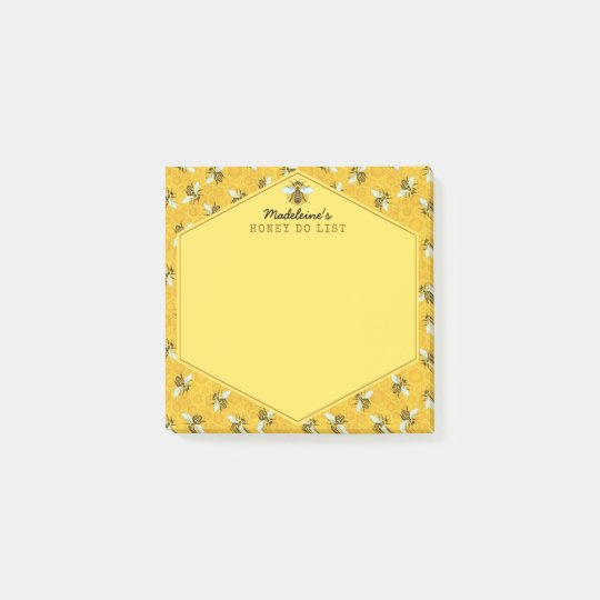 Honeybee Honeycomb Bumble Bee Honey Do List Custom