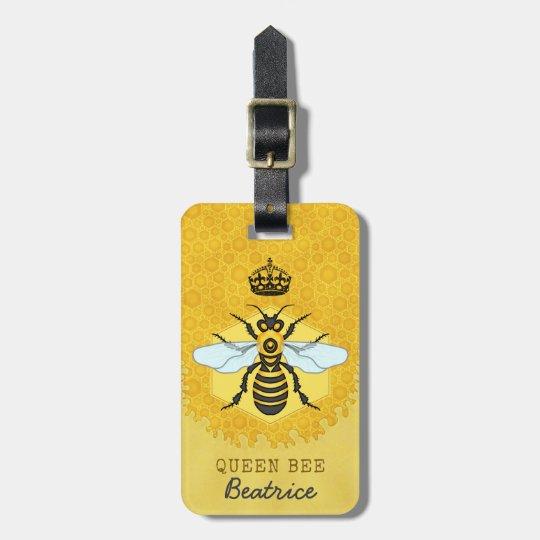 Honeybee Honeycomb Queen Bee Bumblebee Custom Name Luggage