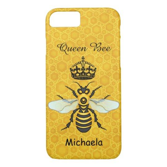 timeless design e6cec ede8f Honeybee Honeycomb Queen Bee Crown Custom Name Case-Mate iPhone Case