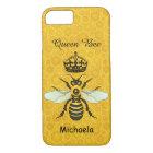 Honeybee Honeycomb Queen Bee Crown Custom Name iPhone 8/7 Case