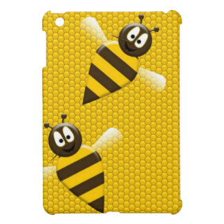 Honeybee in Honeycomb iPad Mini Covers