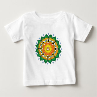Honeybee mandala baby T-Shirt