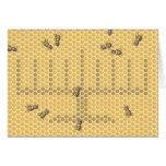 Honeybee menorah greeting card