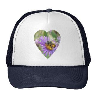 Honeybee on Fall Asters Heart Trucker Hat