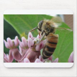 Honeybee on Flower Mouse Mat