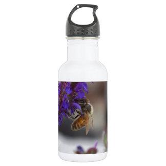 Honeybee on Salvia 18oz Water Bottle