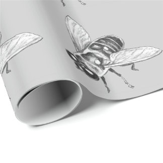 Honeybee Wrapping Paper Cute Bee Bug Paper