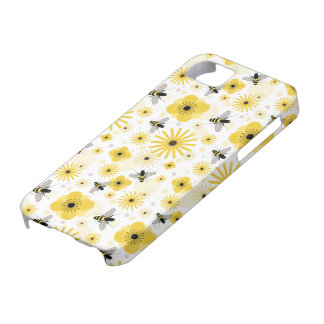 Honeybees & Flowers iPhone 5 Case