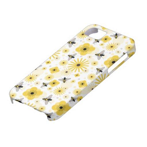 Honeybees & Flowers iPhone 5 Case
