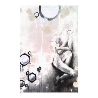 honeycoma stretched canvas print