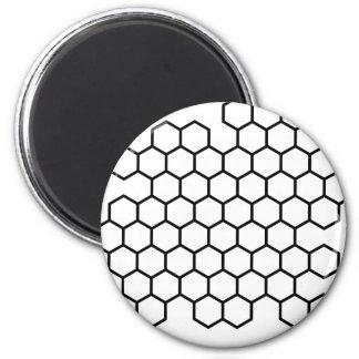 Honeycomb 6 Cm Round Magnet