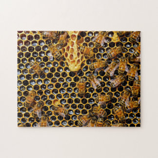 Honeycomb and Bees Jigsaw Puzzle