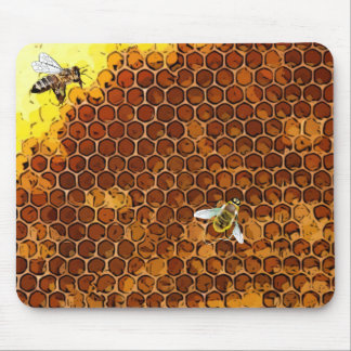 Honeycomb Beehive Honey Bee Mouse Pad