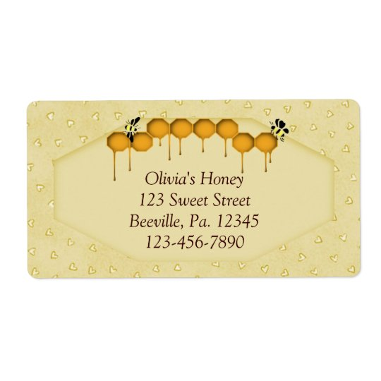 Honeycomb Business Label Shipping Label