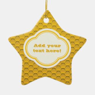 Honeycomb Ceramic Star Decoration
