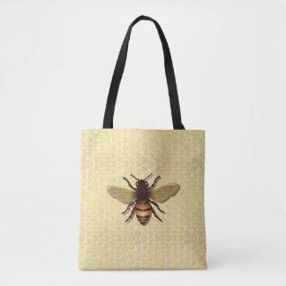 Honeycomb Honey Bee Tote Bags