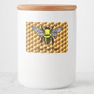 Honeycomb Honey Jar Bee Labels