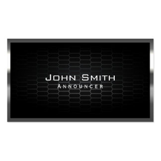 Honeycomb Metal Cells Announcer Business Card