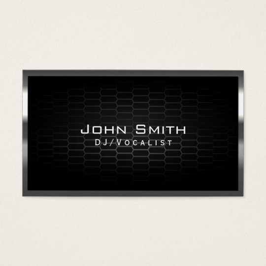 Honeycomb Metal Cells DJ Music Business Card
