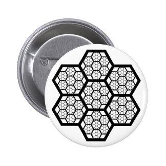 Honeycomb Pattern Button