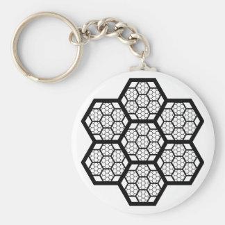 Honeycomb Pattern Keychain