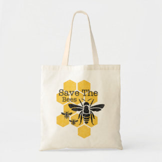 Honeycomb Save The Bees Tote Bag
