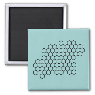 Honeycomb Square Magnet