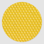 Honeycomb Template For Bees To Work On Classic Round Sticker