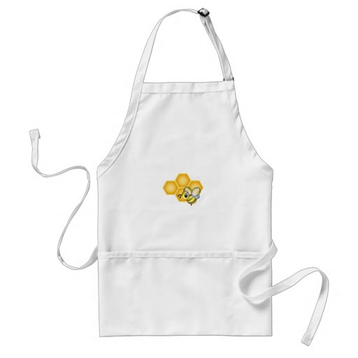 Honeycomb with a cute honeybee aprons