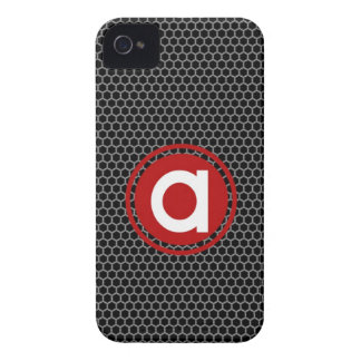 Honeycomb with Single Letter Monogram iPhone 4 Case-Mate Case