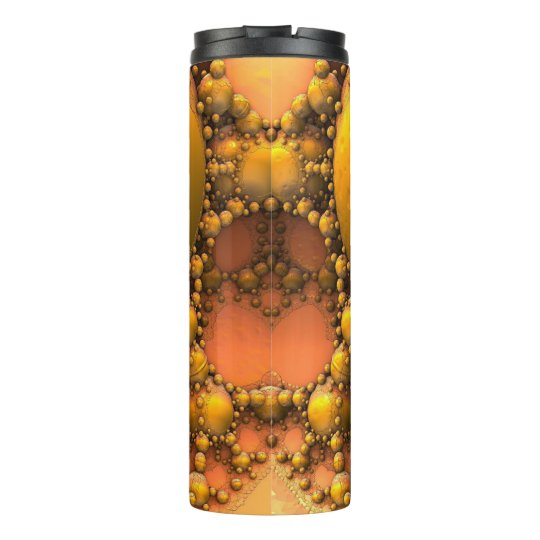 Honeycomb Yellow Fractal Art Thermal Tumbler