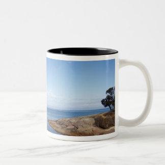 Honeymoon Bay, Coles Bay, Freycinet National Two-Tone Coffee Mug