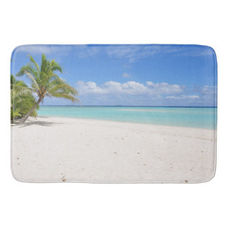 Honeymoon Beach Sand Palm Tree Paradise Bath Mat