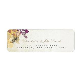 Honeymoon Bee Vintage Return Address Labels